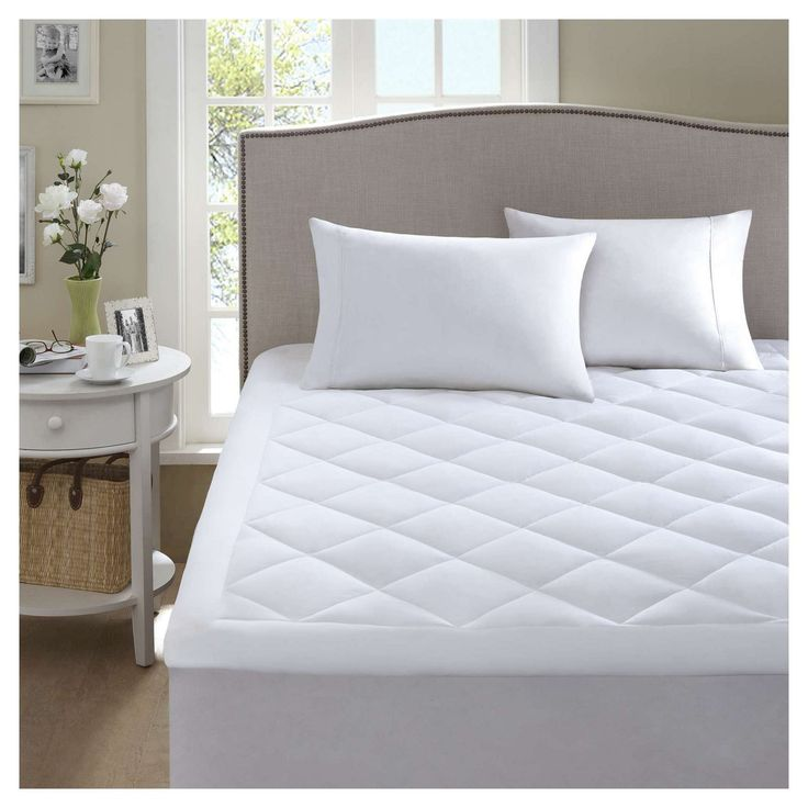 Harmony Waterproof Mattress Pad with 3M Scotchgard Moisture Treatment (Cal King) White