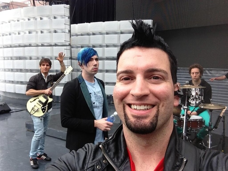 The guys' rehearsal this morning for the MMVAs
