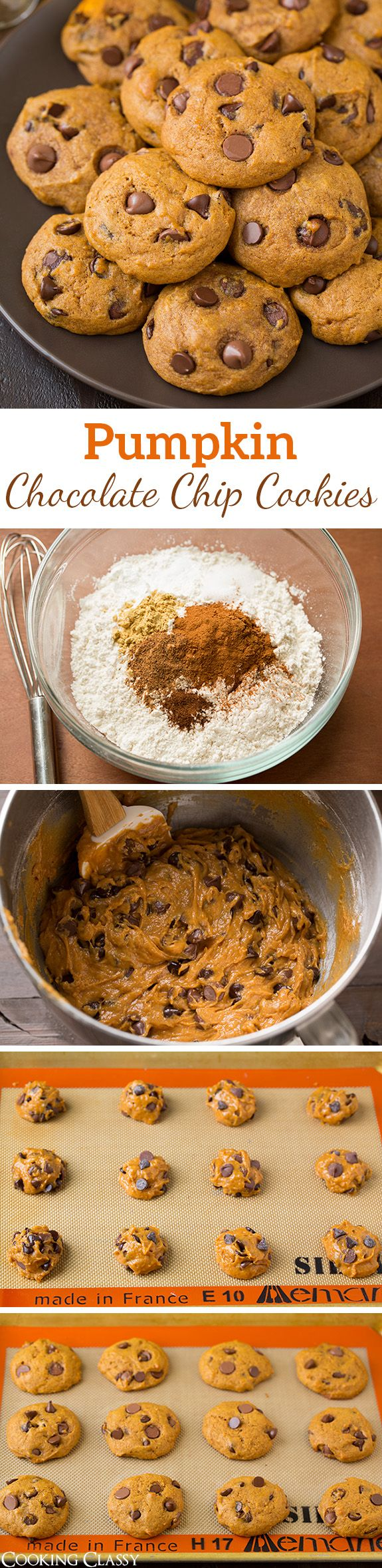 Pumpkin Chocolate Chip Cookies - just like the ones Grandma made! They are the…