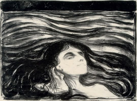 Edvard Munch On the Waves of Love, 1899,  lithograph 31.1 x 41.6 cm