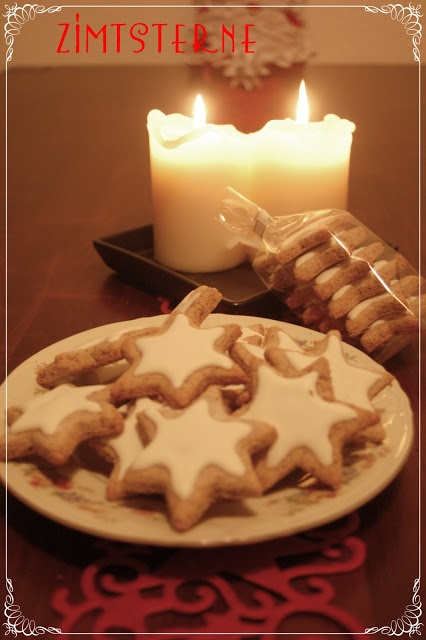 These are delicious, chewy, cinnamony heaven....German Christmas Cookies - Cinnamon stars / Zimtsterne