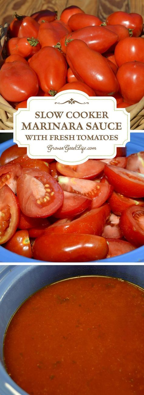 This easy slow cooker marinara sauce made with fresh tomatoes is rich and flavorful. It takes little effort to fill the slow cooker up with all the ingredients and let it simmer all day.