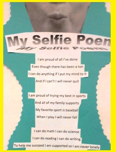 "April is National Poetry Month, why not have your students take ""selfie"" shots and write ""Selfie Poems!"""