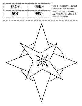 Worksheet Compass Rose Worksheets 1000 ideas about compass rose activities on pinterest cut and paste labeling printable