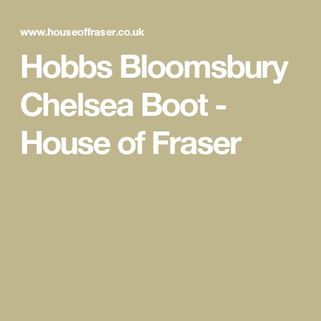 Hobbs Bloomsbury Chelsea Boot - House of Fraser