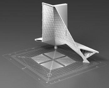 Pier Luigi Nervi. Digital model.