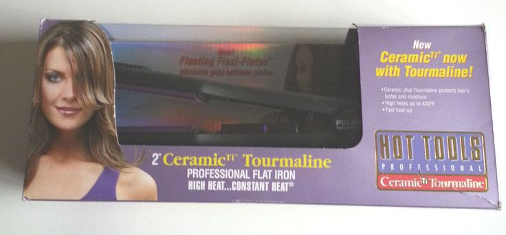 "Tourmaline Flat Iron Hair Straightener Hot Tools 2"" Professional Model 1189  #HotTools"