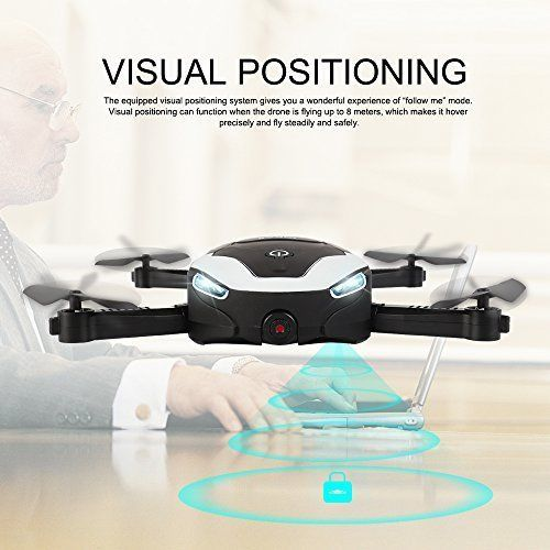 Drone WIFI FPV Quadcopter Optical Flow Gravity Sensor Altitude Hold Foldable  #DroneWIFIFPVQuadcopter