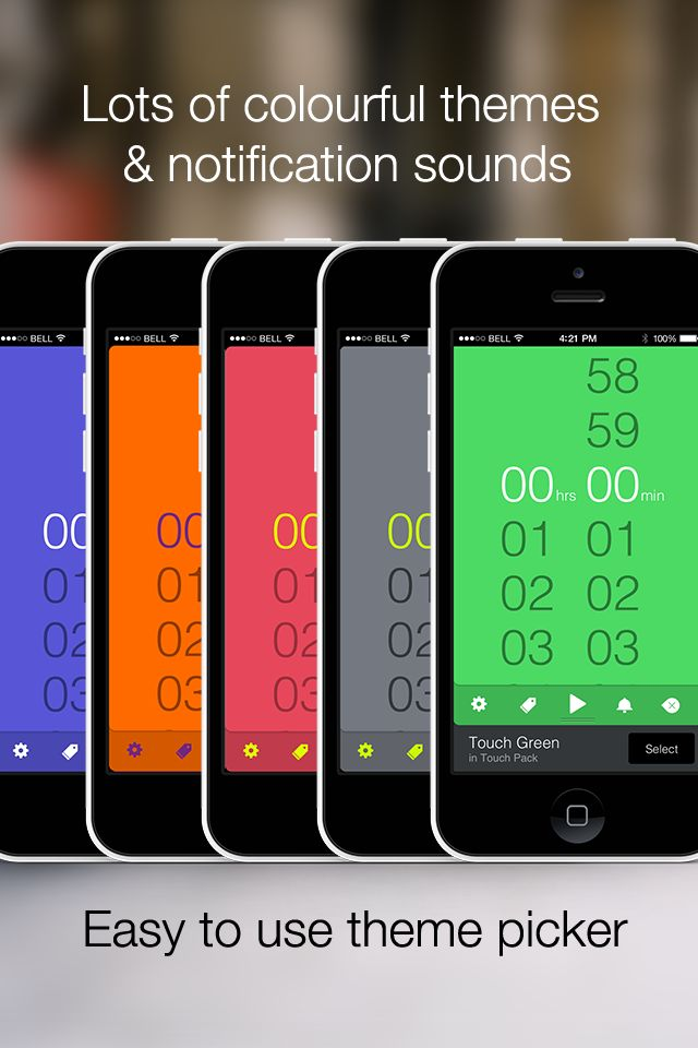 Timeless Timer: Access lots of colourfull themes and notification sounds with just a swipe. http://timeless-app.com