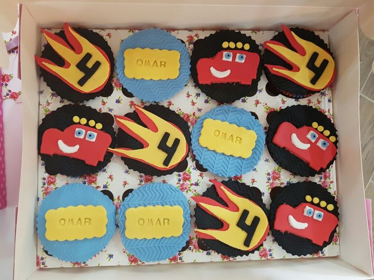 Blaze and the monster truck cupcakes
