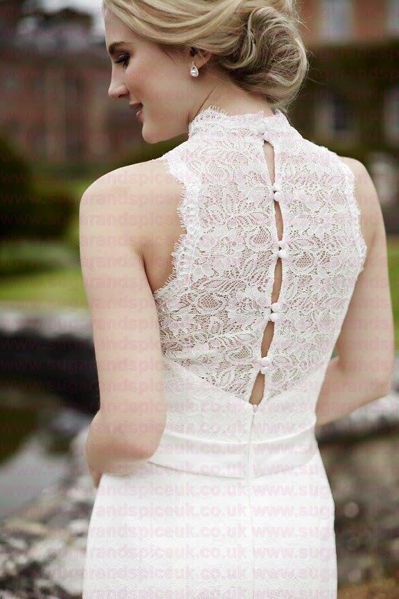 Tiffanys Catherine - Lace gown back - Sugar and Spice UK - Lincoln