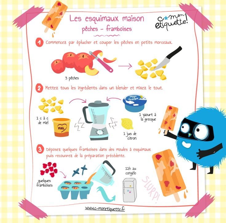 Envie d'une petite douceur vitaminée ? Voici une petite recette fraîche et gourmande à réaliser avec les enfants !