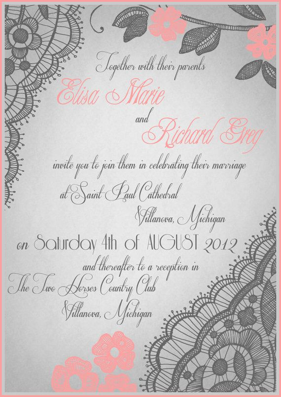 Best Wedding Invites Images On   Free Printable