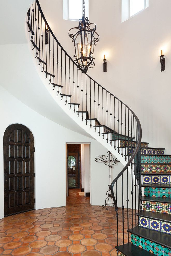 1000 Ideas About Tiled Staircase On Pinterest Stenciled