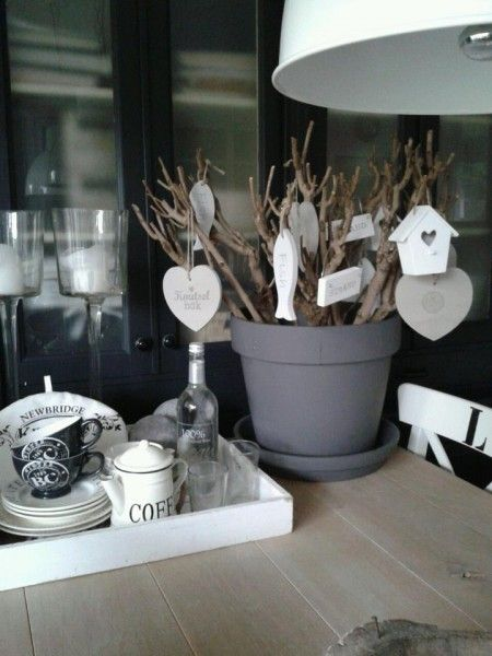 Gray pot with white accent pieces - photo only