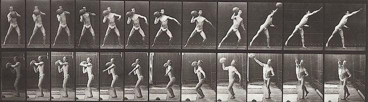 Eadweard Muybridge (British, 1830-1904), Throwing a Medicine Ball, 1887, collotype