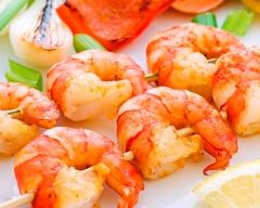 Gambas marinées ou en brochette #CuisineAZ.com
