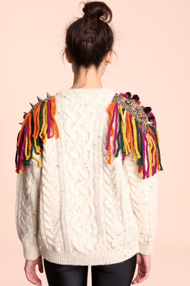 Bitching & Junkfood Eclectic Fringe Sweater