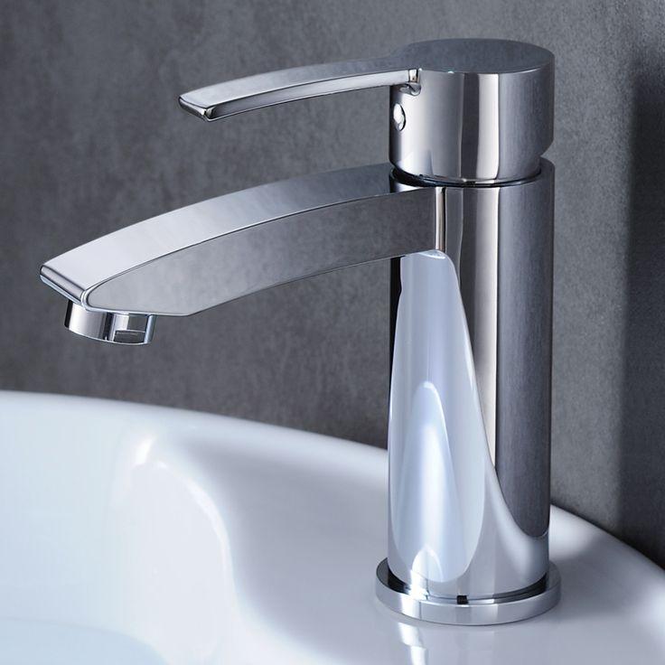 Image Of Fresca Livenza Single Hole Mount Bathroom Vanity Faucet Chrome