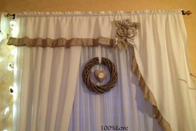 Tende shabby cerca con google salotto tende e for Decorazioni tende