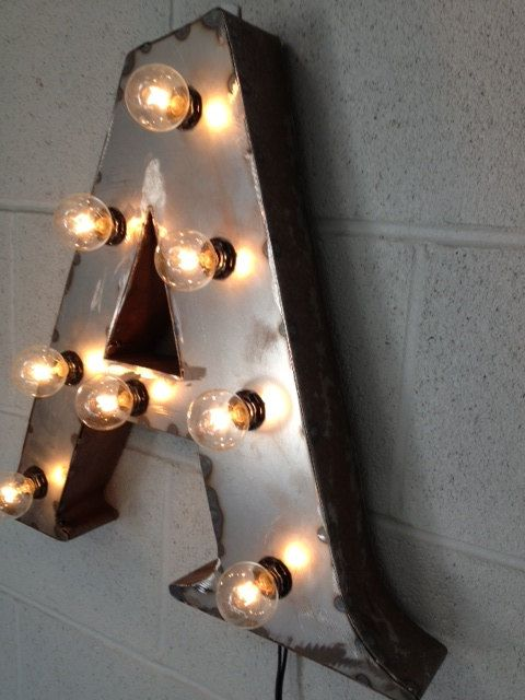 Industrial lighting Letter A 24 inch tall by WestVintageTradingCo, $200.00