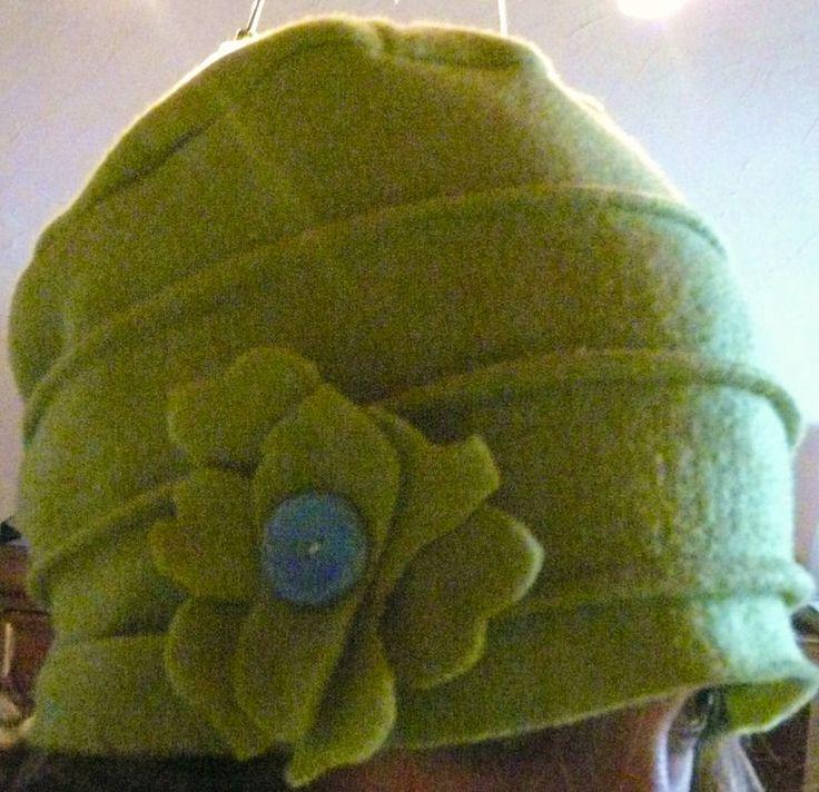 tuto chapeau à plis en polaire