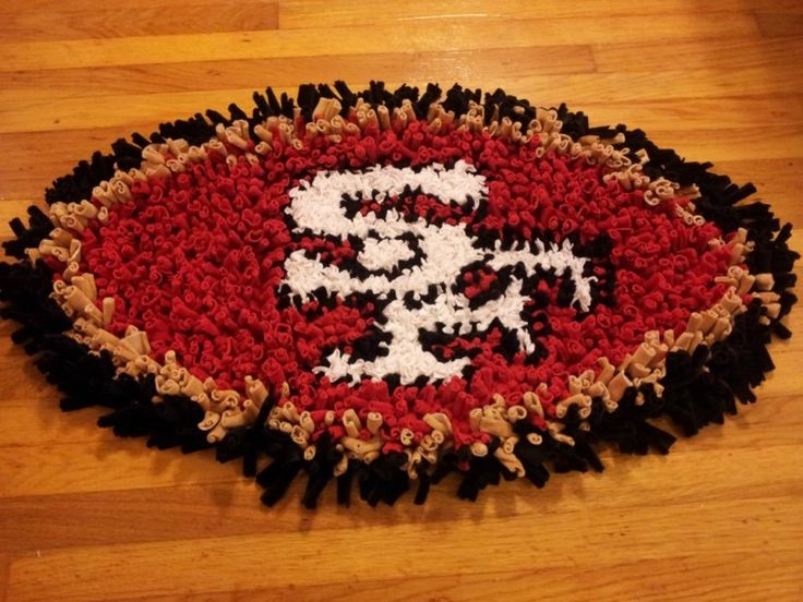 Brand New SAN FRANCISCO 49ERS 100% Handcrafted Rug / Wall Decoration Made  In USA