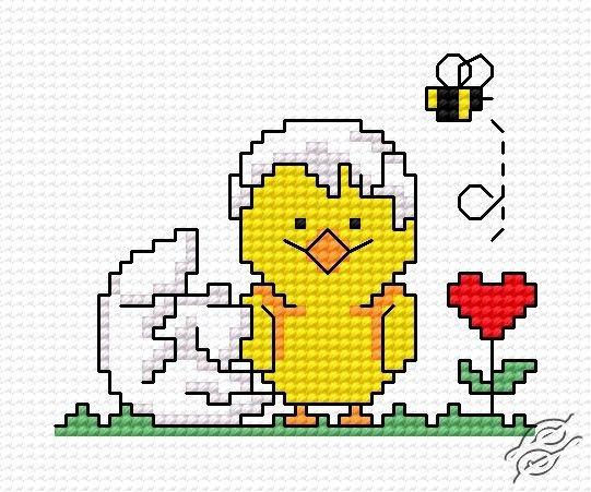Stitch a Sweet Chick and Egg for Spring