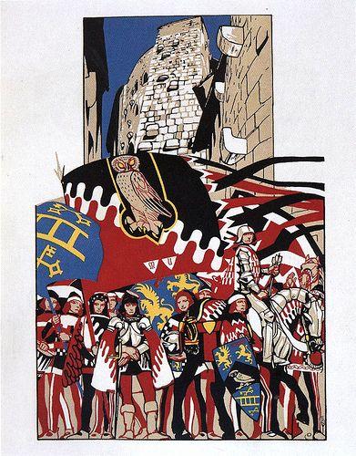 Contrada priora della Civetta - Siena - Duilio Cambellotti 1932 #TuscanyAgriturismoGiratola