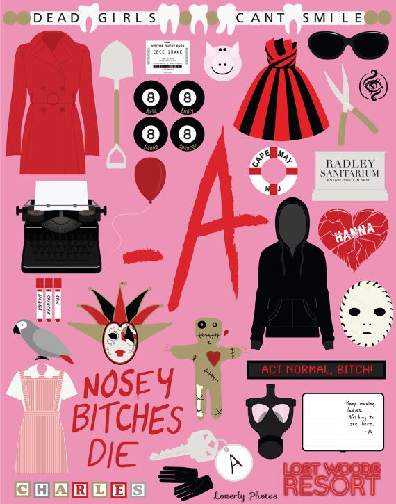 Pretty Little Liars Print by LaurenHeimsothStudio on Etsy
