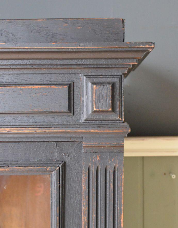 x-823-f アンティークガラスキャビネットの装飾