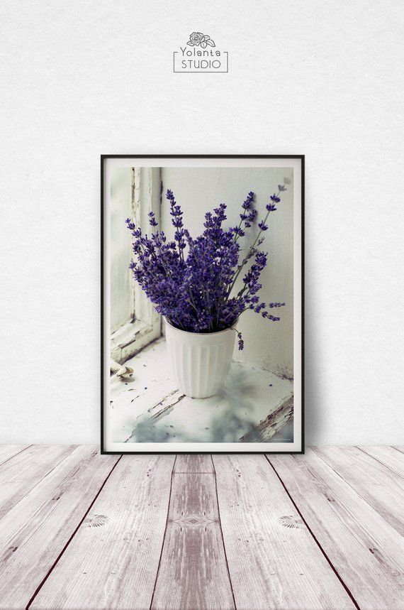 Lavender Rustic Floral Wall Art Lavender Photography Print Etsy Rustic Floral Wall Art Flower Wall Art Floral Wall Art