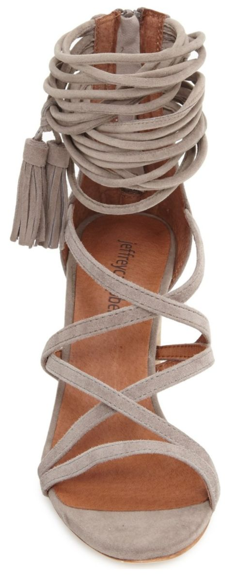 Love these strappy wrap sandals