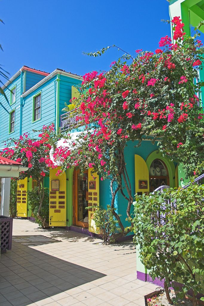 Shops in Cruz Bay St John US