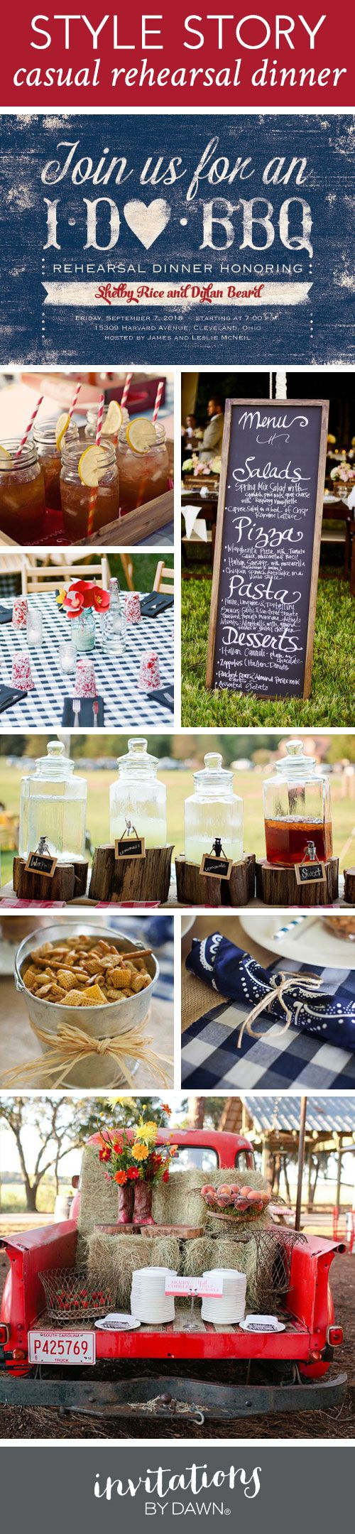 Style Story: Casual BBQ Rehearsal Dinner