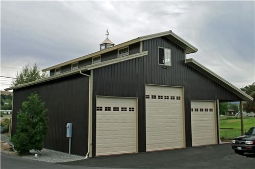 25 b sta barn plans id erna p pinterest h ststall for Pole barn garage designs