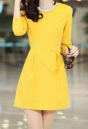 Vestidinho amarelo ❤️