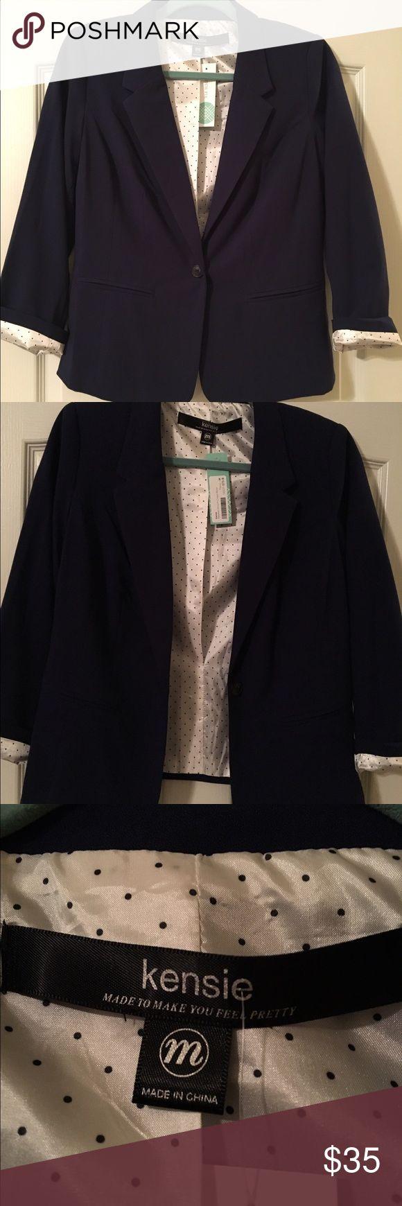 Kensie dark blue blazer Lined Kensie blazer. New. Dark Blue. Kensie Jackets & Coats Blazers