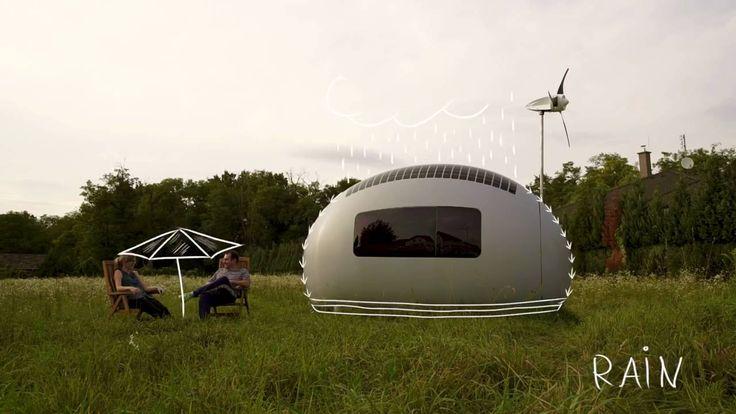 Ecocapsule: Un hogar portátil con energía solar, eólica y agua lluvia @tecnigreen