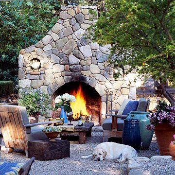 massive outdoor fireplaceFire Pits, Stones Fireplaces, Dreams Home, Fireplaces Design, Outdoor Living, Outdoor Fire Pit, Outdoor Fireplaces, Firepit, Stone Fireplaces