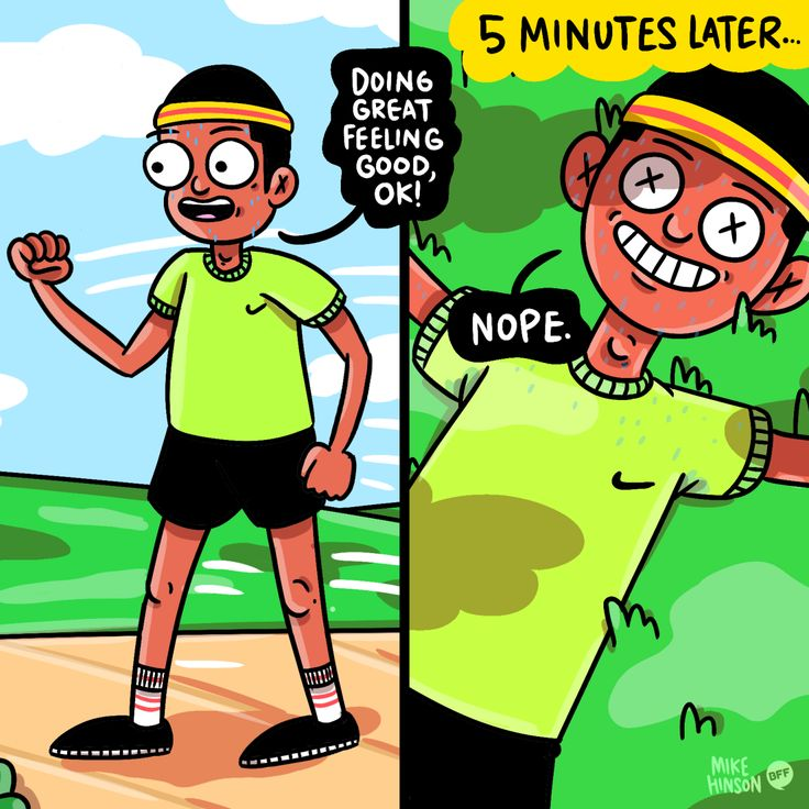 When you try going jogging and reality hits you. (by @hinsonmike)