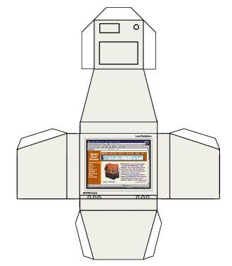 "Small Stuff's PrintMini: Printable Dollhouse Miniatures & Printies  1"" scale computer monitor"