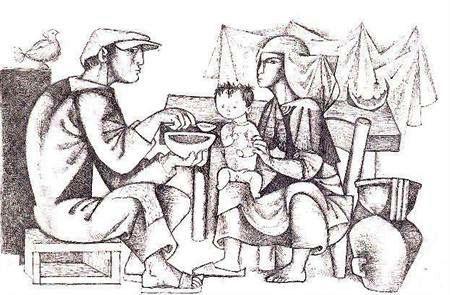 Julio Pomar, a refeição do menino