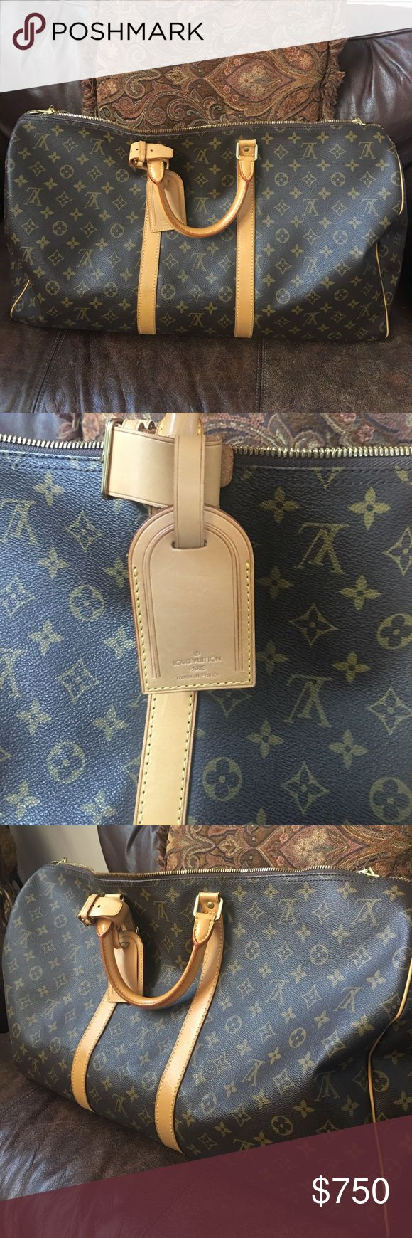 Louis Vuitton keepall 55 Authentic Louis Vuitton 55 keepall. Still in good condition, no rips or tears. Just normal use. Louis Vuitton Bags