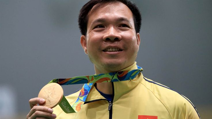 WR: Hoang Xuan Vinh made history in the men's 10m air pistol shooting event by winning Vietnam's first ever gold medal, and setting an Olympic Games record