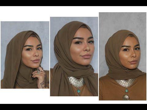 3 Easy Chiffon Hijab Styles - YouTube