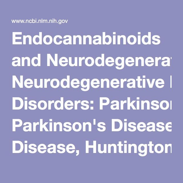 Endocannabinoids and Neurodegenerative Disorders: Parkinson's Disease, Huntington's Chorea, Alzheimer's Disease, and Others. - PubMed - NCBI