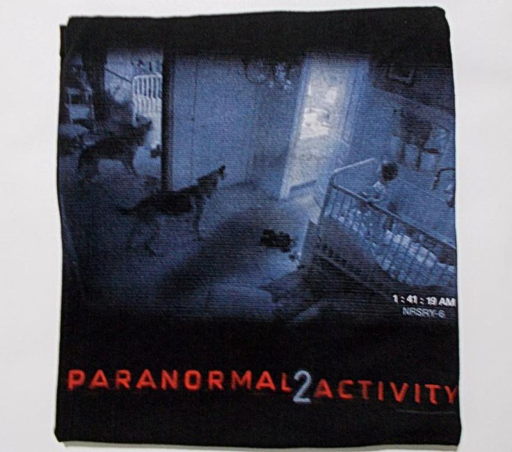 Paranormal Activity 2 Black T Shirt Size M Nursery Dog Camera Scene #Tultex #GraphicTee
