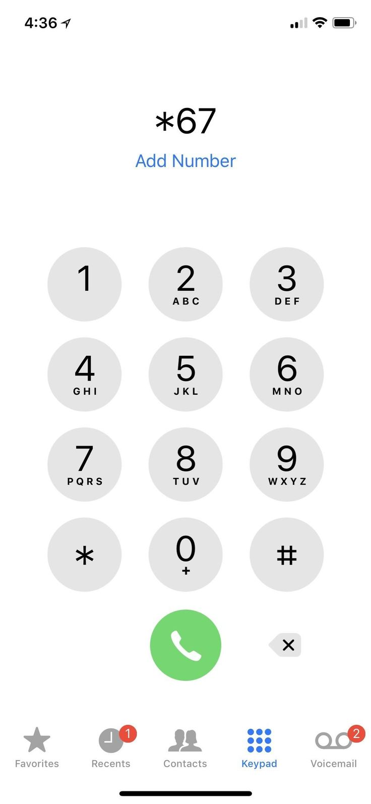 how to call a number anonymously iphone