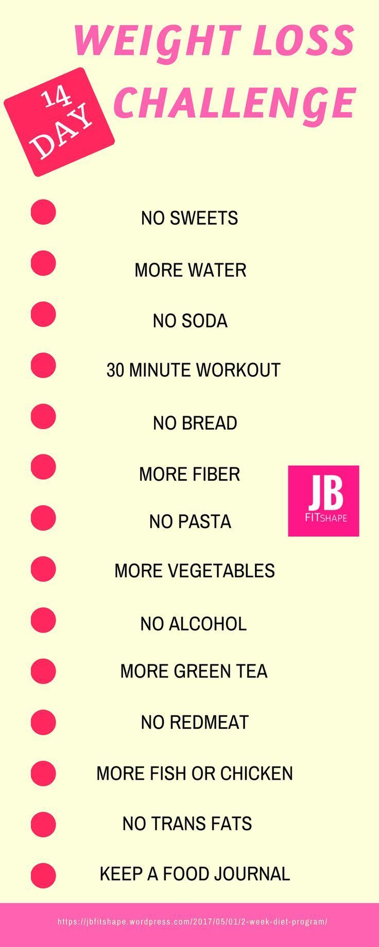 WEIGHT LOSS CHALLENGE Diet | Fitness | Weight Loss https://jbfitshape.wordpress.com/2017/05/01/2-week-diet-program/ http://amzn.to/2ssKnYB
